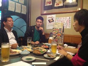 6期生今津さん、毛受さんと戦略会議を行いました!